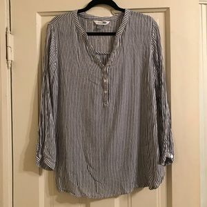 Old Navy Tunic shirt in blue and white stripe